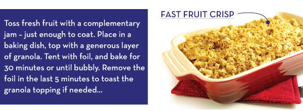 Fast Fruit Crisp
