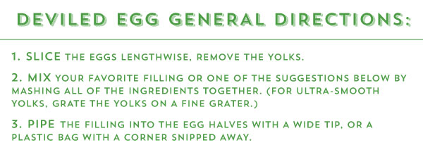 Deviled Egg General Directions