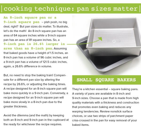 Cooking Technique: Pan Size Matter