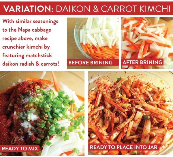 Variation: Diakon and Carrot Kimchi