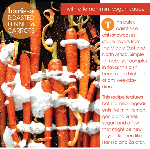 Harissa Roasted Fennel and Carrots