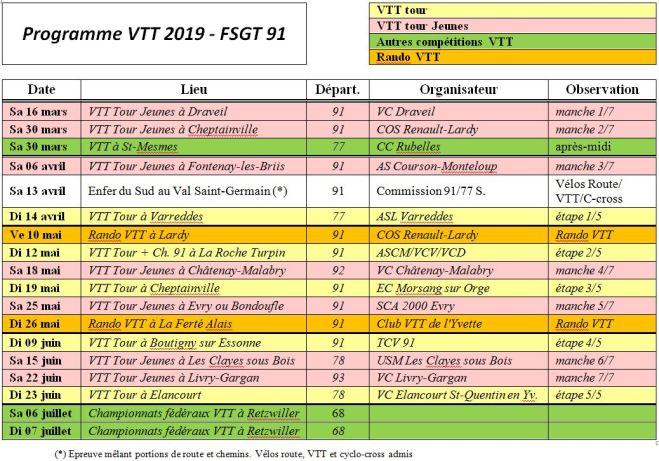 Calendrier Fsgt Cyclisme 2019.Calendrier Et Reglement Des Competitions Vtt De La Fsgt 91