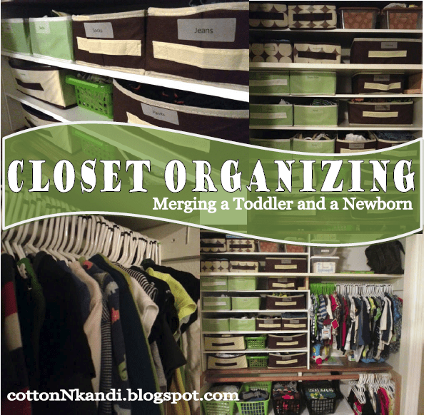 Closet Organizing {Merging A Toddler U0026 A Newborn}
