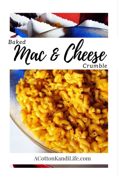 Baked Mac & Cheese Crumble. Party Food Recipes, Macaroni Recipes, BBQ Recipes, Super Bowl Recipes, Birthday Party Food Ideas