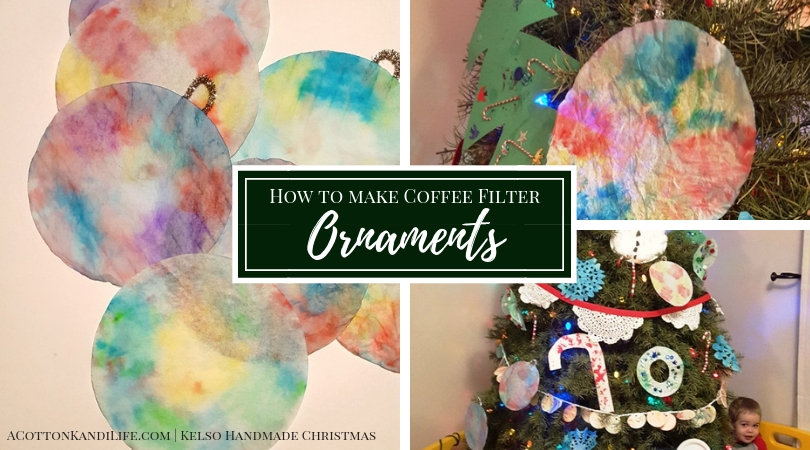 How to Make Coffee Filter Ornaments | DIY Christmas