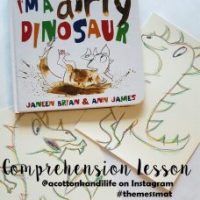 A Toddler Reading Comprehension Lesson | I'm A Dirty Dinosaur