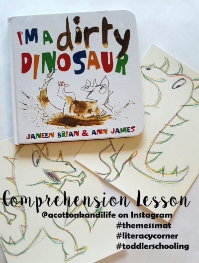 I'm a Dirty Dinosaur Comprehension Lesson for Usborne Books