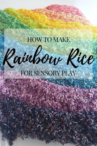 How to make Rainbow Rice for Sensory Plat. Rainbow Rice Recipe DIY