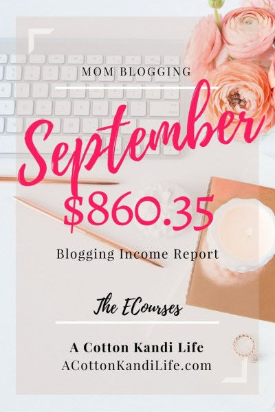 Blogging Income Report for A Cotton Kandi Life. Blogging Incomes. How to make Money Online. Mom Blogger Incomes WAHM Income Report. How to make money Blogging. Blogging Money Reports.