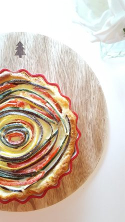 Ways to use your Mandoline Slicer to make a Veggie Quiche. Eggplant, Zucchini, Yellow Squash & red Pepper Quiche Recipe