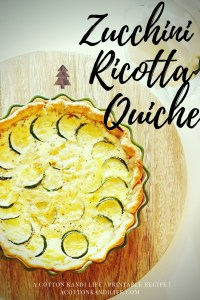Zucchini Ricotta Quiche Recipe, Christmas Breakfast Menu