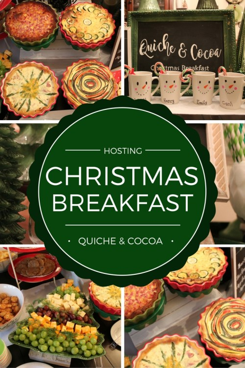 Hosting Christmas Breakfast. Recipes and How To Guides. Quiche Buffet & Cocoa Bar