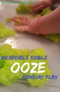 Incredible Edible Ooze Sensory Play Recipe