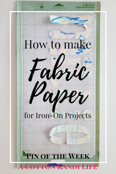 How to Make Fabric Paper for Iron-On Projects. Fabric Letters. How to Cut out Fabric Letters