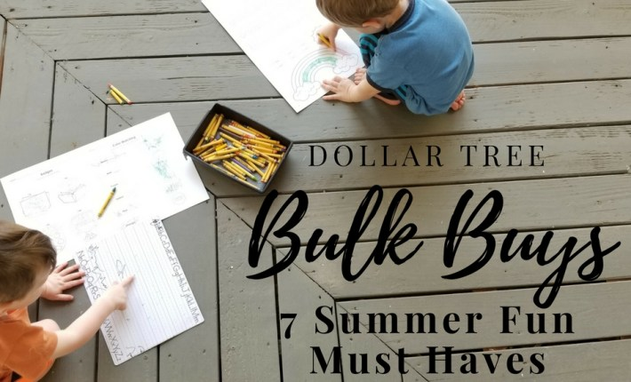 7 Dollar Tree Bulk Buys for Summer Fun. How to keep kids busy all summer. Dollar Store Summer Fun. Affordable Kid Fun for Summer. Summer Activity Ideas for Kids.