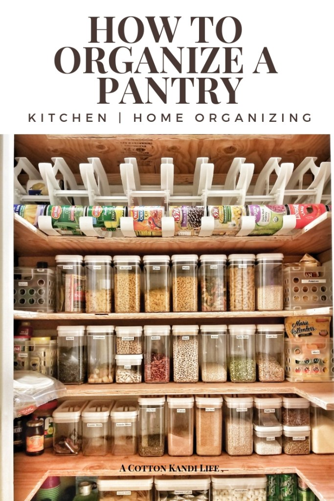 How to Organize a Pantry. I love all of my Clear Food Storage Containers and label makers. It really helps keep my Small Kitchen Spaces organized!  How to organize a pantry closet. Organized Pantry Food. How to Organize Kitchen Cabinets. Pantry Organization Ideas. Pantry Shelving Ideas. Organizing Canned Food. Pantry Ideas.
