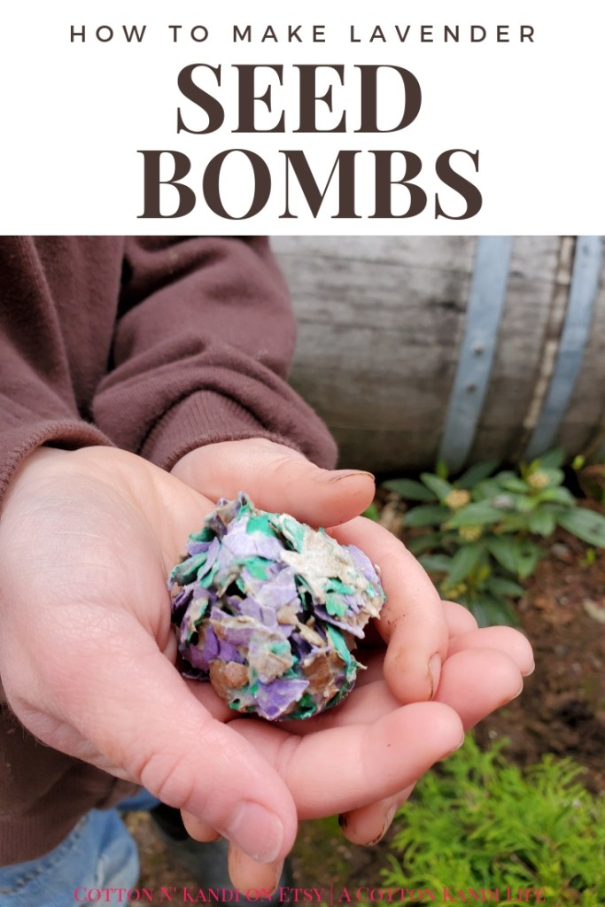 Earth Day Seed Bombs are fun for the whole family. Make Lavender Seed Bombs for Teacher Appreciation Week Gift Ideas, DIY Mother's Day Gifts and even Earth Day Lesson Plans. Perfect DIY Projects for Kids to do Outside. Summer Gardening with Kids