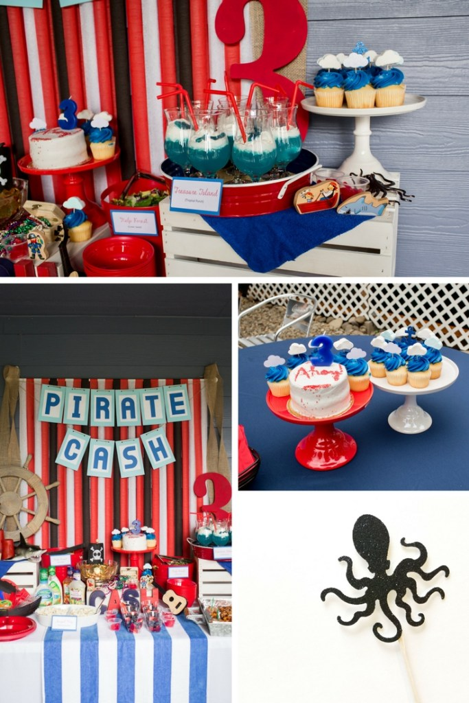 Easy and Cheap Pirate Birthday Party Ideas and Pirate Party Decorations. How to throw a Pirate Birthday Party for Under $100. 5 Tips I use to keep my Birthday Parties under Budget.