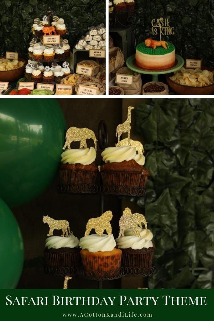 Let's get Wild with a Safari Birthday Party Buffet. Yes, I gave all of the food funny names that make a for a good pun. If you need a few Safari Party Food Names come on over.  * Safari Food Names. Jungle Food Names. Funny Names for Party Food.  Safari Food Snacks. Safari Birthday Party Dessert Table. Custom Cake Toppers for a Safari Party. Gorilla Party Ideas. Giraffe Themed Baby Shower