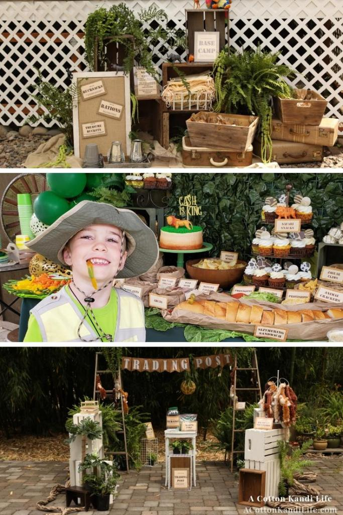 Let's get WILD and talk about how I threw a Safari Birthday Party for my son's 6th birthday theme. From the Safari Birthday Party Games to Safari Birthday Party Food Ideas we've got them all.  * Jungle Birthday Party Decorations. Safari Birthday Party Ideas. Safari Baby Shower Ideas. Safari Birthday Party Games. Safari Themed Trading Post. Safari themed Base Camp