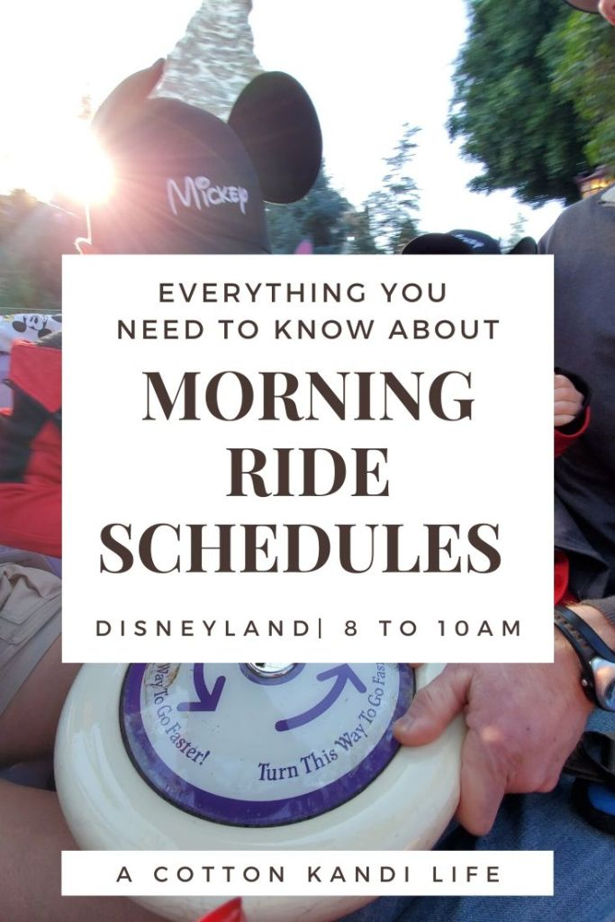 Get the most out of your Disneyland Morning Ride Schedule by having a game-plan set before you get there. I'm sharing our experience and what we did so you can use it as a Schedule Template to map out your Disneyland Itinerary.  * Everything you need to know about your Disneyland Morning Ride Schedule from where to start with young kids to how we did 10 rides in 2 hours.