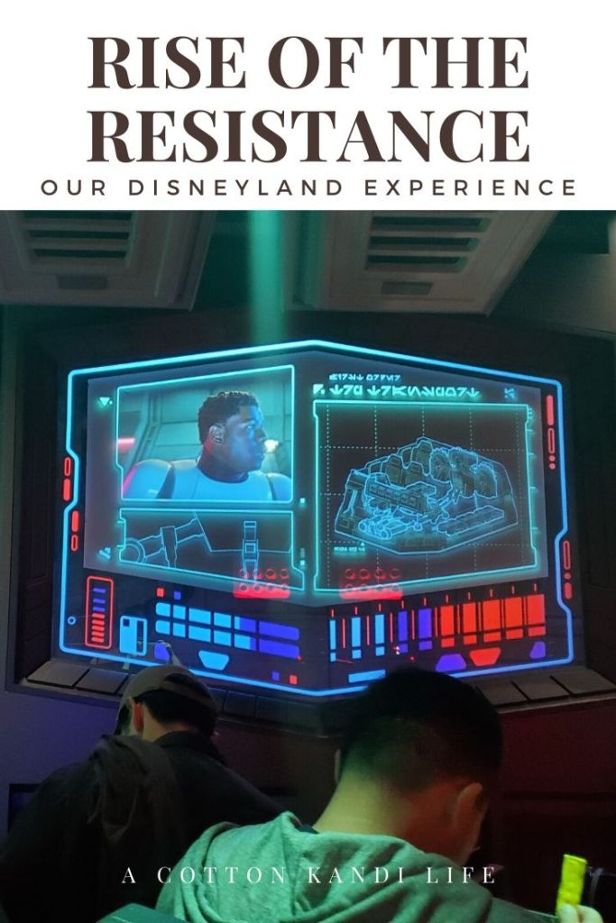 Finn and the Resistance break you out and begin your escape. I'm taking you on a quick tour through the new Star Wars Ride: Rise of the Resistance. Here is a little insight into how long it is and what to expect.  . Disneyland's new Star Wars ride details. Everything you need to know about Rise of the Resistance.