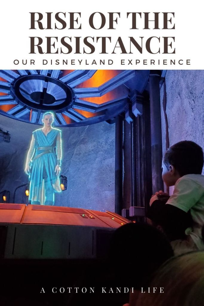 Scene 1: Mission Briefing. I'm taking you on a quick tour through the new Star Wars Ride: Rise of the Resistance. Here is a little insight into how long it is and what to expect.  . Disneyland's new Star Wars ride details. Everything you need to know about Rise of the Resistance.