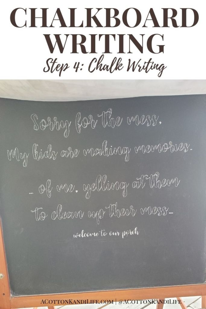 Chalkboards can be intimidating, but oh so fun! That's why I wrote up this quick and easy, DIY Chalkboard Writing Tutorial. If you want Chalkboard Writing Ideas, designs or quotes find them here for the fall and holidays too.