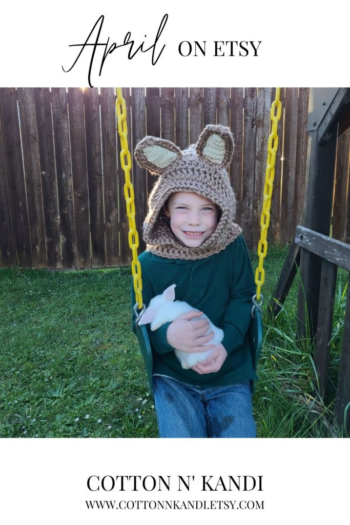Sweet little Wyatt can't get enough bunny time over at Grandma's farm. Baby Bunnies are pretty normal for us in the Spring, so Bunny Character Hoods were a must.  . Shop Here: https://www.etsy.com/listing/557883446/hooded-scarf-bunny-family-costumes?ref=shop_home_feat_1&pro=1 . #cottonnkandi #easteriscoming #easterbunny #springtrends #springtrend #springfashion #etsyhandmade #etsysellersofinstagram #etsyfind #etsygifts #etsyhunter #etsysellers #etsysale #etsyforall #etsyusa #shopetsy #etsyfinds #etsyshopowner #craftsposure #toddlerfashion #etsystore #creativelifehappylife #makersvillage #makersmovement #supporthandmade #calledtobecreative #favehandmade #etsylove #creativepreneur #shophandmade