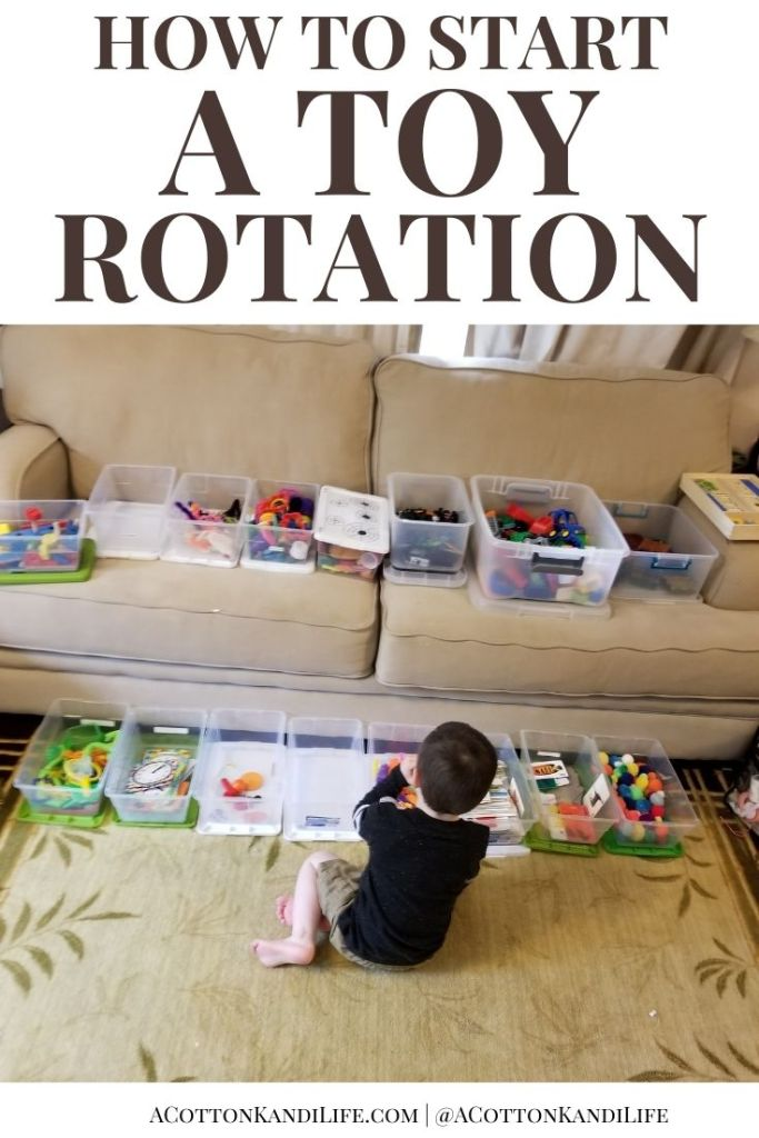 Get started in a Toy Rotation by having kids sort toys by themes into containers. They will LOVE having everything out all at once.  * We've been running a Toy Rotation for Years which helps us manage the floor mess and more. Here is how we sort our toys into three sized totes for a great system.  . Toy Organizing, Storage Ideas, Play Room Systems and Totes. Sorting Categories for Toy Boxes. Organization Ideas for Toys.