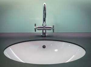 a ceramic sink
