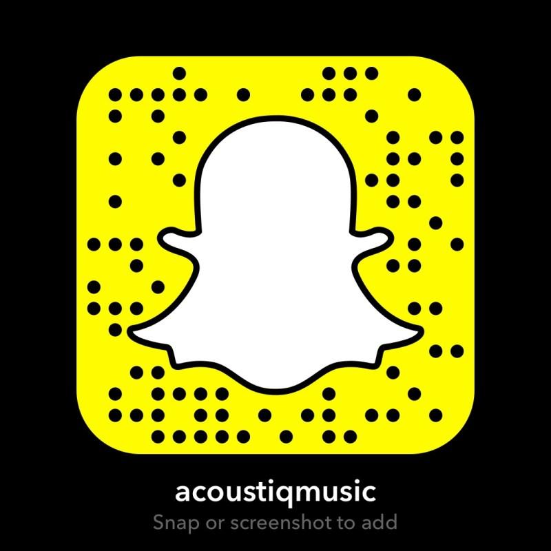 @acoustiqmusic Snapcode