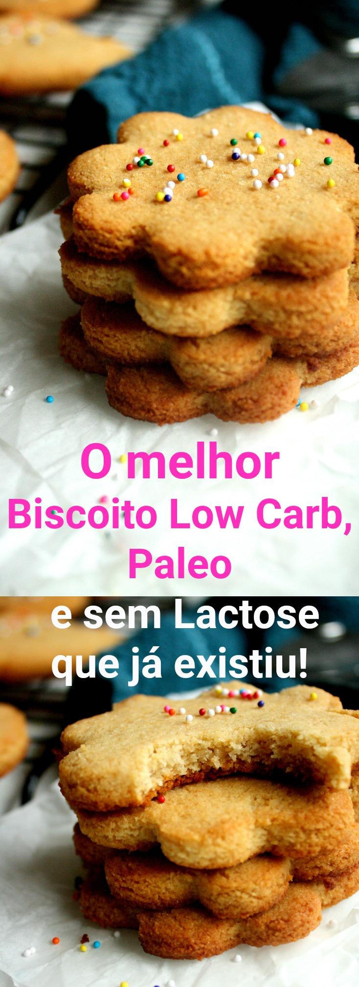 O melhor Biscoito low carb, Paleo e sem Lactose da Internet!