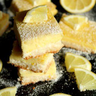 Barrinhas de limão (Sem amido, glúten, lactose e açúcar)