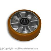mobile brake tester wheel transport rollers