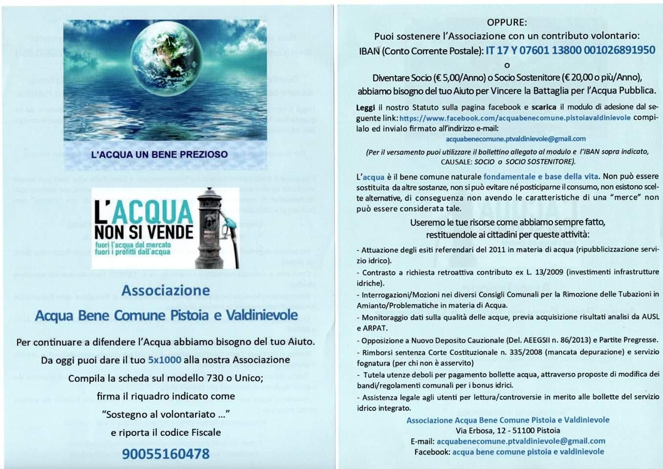 Forum Toscano Dei Movimenti Per Lacqua Chi Vuole