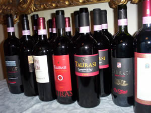 an exposition of red wines from Irpinia