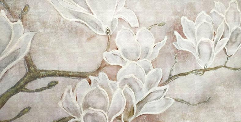 quadro moderno con fiori floreale mannolie montmartre tele