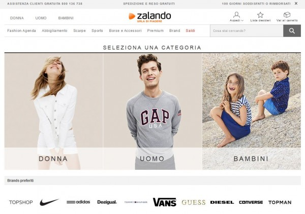 Siti come Zalando per la vendita online di scarpe e vestiti