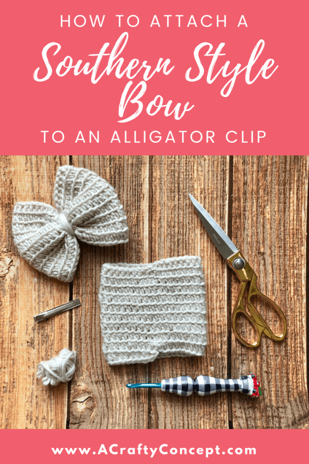 How To Attach A Crochet Bow To An Alligator Clip A Crafty Concept