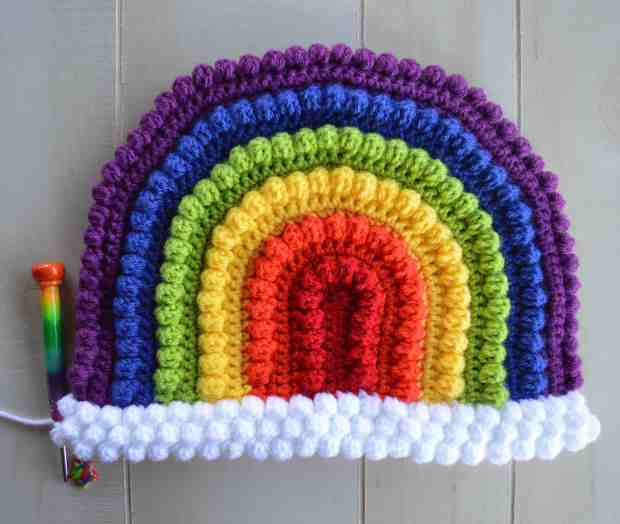 Crochet Rainbow Pillow - Free Crochet Pattern by A Crafty Concept