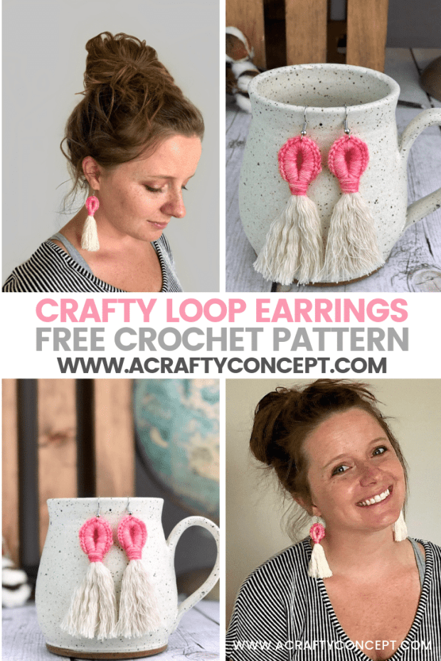 Follow this simple crochet earring pattern and crochet a gorgeous pair of earrings is less than 15 minutes! You only need to know one basic stitch!