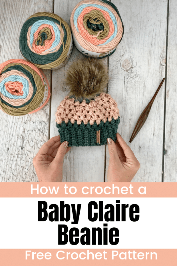 Learn how to crochet the cutest baby beanie in this beginner friendly, step-by-step tutorial.