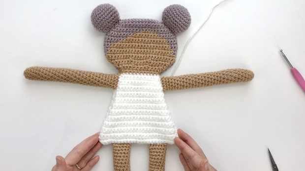 Follow this beginner-friendly crochet rag doll pattern to learn how to make an adorable amigurumi rag doll - No sewing required!