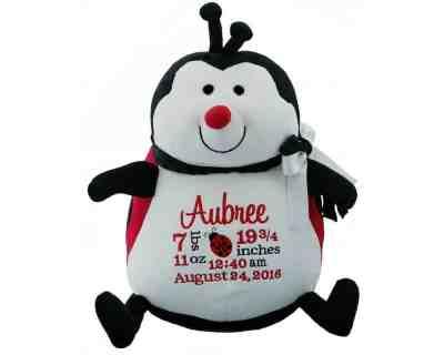 Ladybug Plush Birth Annoucement
