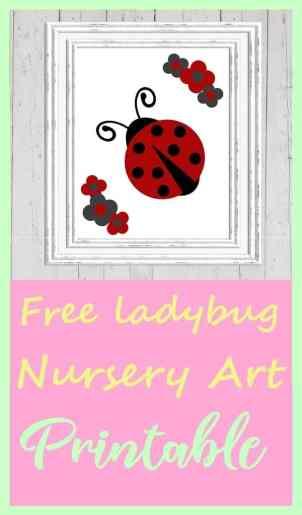 Free Ladybug Nursery Art