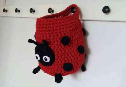 Ladybug hanging bag