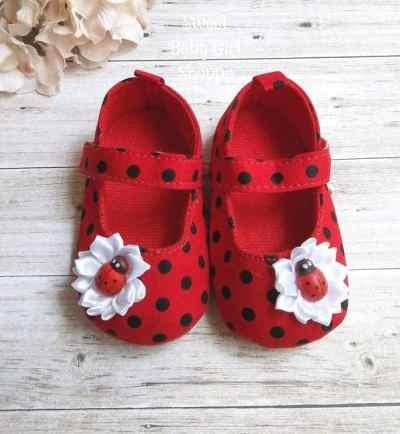 Ladybug shoes - Ladybug nursery - Ladybug birthday