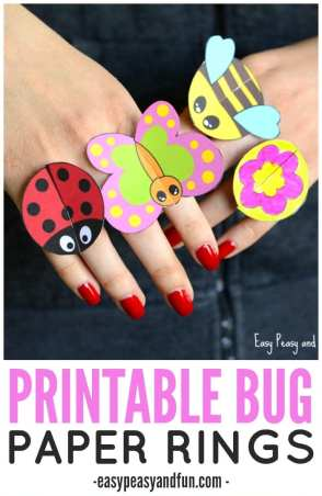 Colorful Bug Crafts 20 Plus Kids Crafts A Crafty Life