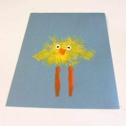 Spring Chick Kid Craft Bright Easter Craft A More Crafty Life